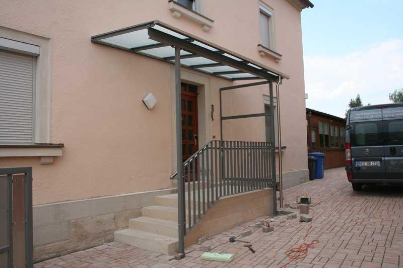 überdachungen Eingangsbereich vordächer und überdachungen metallbau ditterich börner gmbh co kg